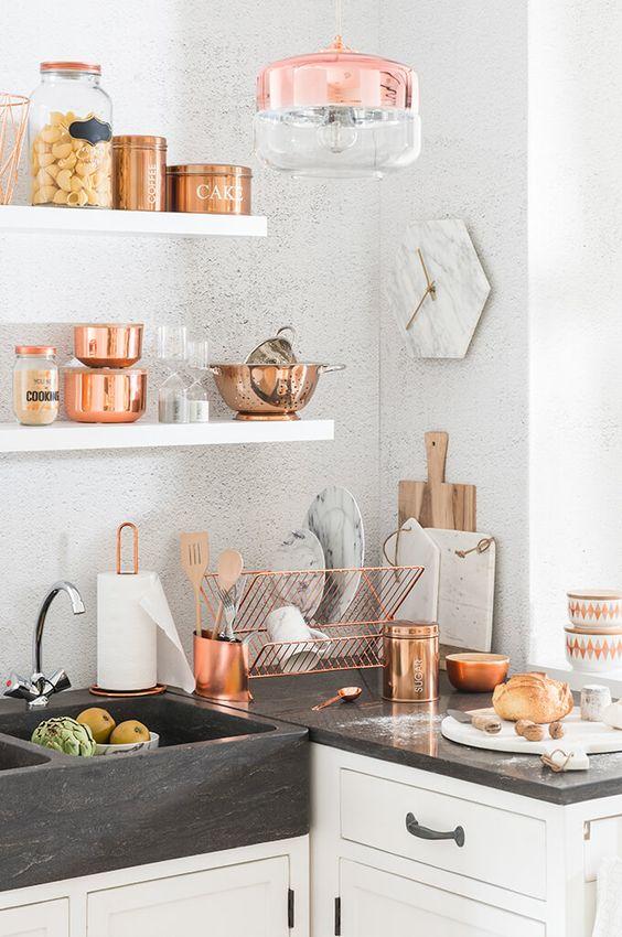 Miedziane dodatki w kuchni