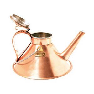 Czajnik do parzenia herbaty z miedzi polerowanej