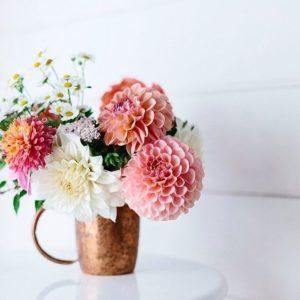 Dzban miedziany na kwiaty