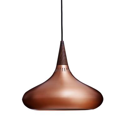 Designerska lampa miedziana