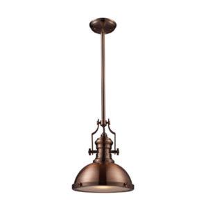 Loftowa lampa miedziana