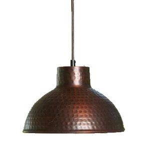 Lampa kuchenna z miedzi młotkowanej