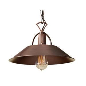Lampa vintage z miedzi cynowanej