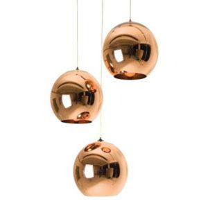 Nowoczesne 3  lampy w kształcie kuli