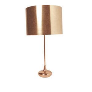 Miedziana lampa stojąca do salonu