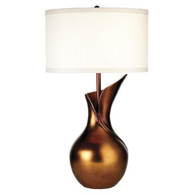 Designerska lampa stojąca z miedzi