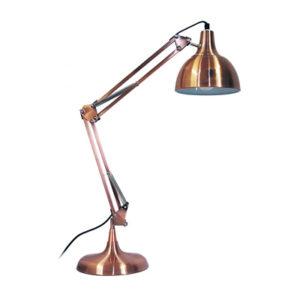 Lampka na biurko z miedzi polerowanej