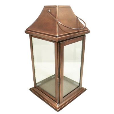 Lampion z daszkiem miedziana