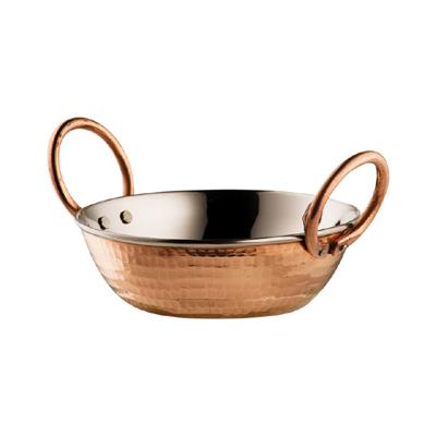 Miedziana głęboka patelnia/wok