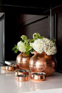 Wspaniały wazon miedziany